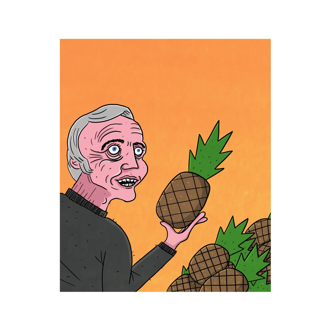 Olav Mosdøl finn ein ananas han likar særs godt