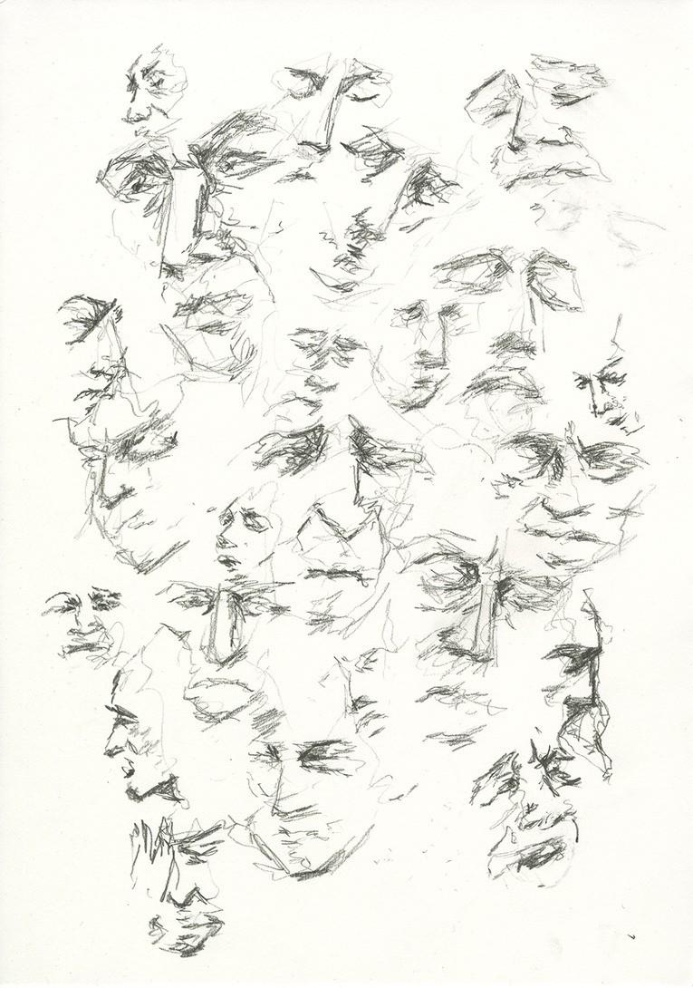 pained expressions (2016) - grafitt på papir