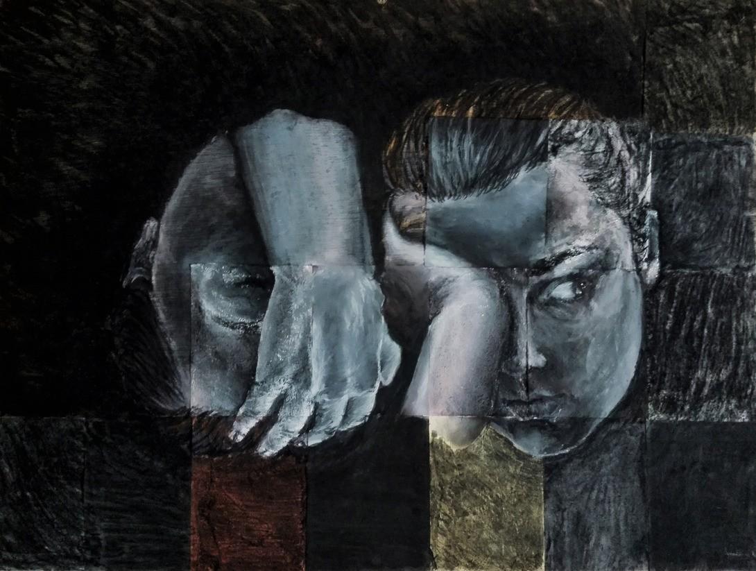 Kull og akryl, 2015-01