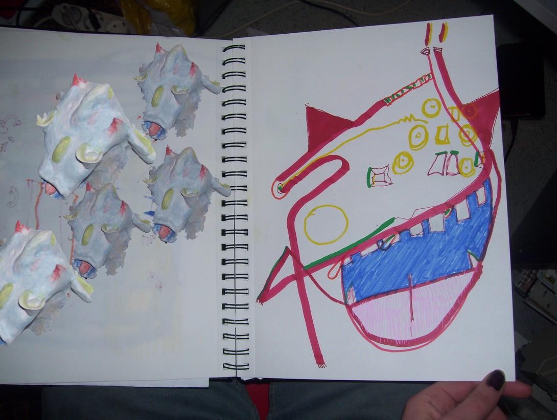 Skulptur og tegning